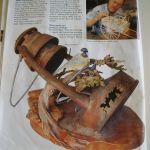 Un projet associant le tournage la sculpture peinture