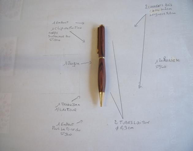 comment tourner un stylo en bois, avec plan de montage et vidéo Tournage sur Bois # Tournage Stylo Bois Rentabilité