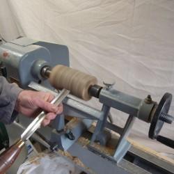 tournage sur bois verre sur pied