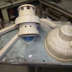 tournage d'une lanterne en bois