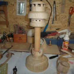 tournage sur bois une lanterne